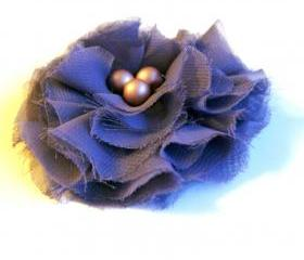 Lavender Chiffon Fabric Flower Pin