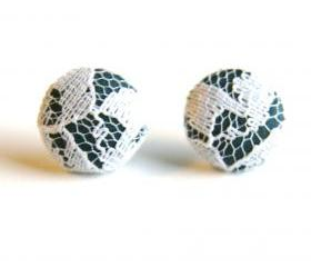 Fabric Stud Earrings