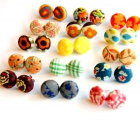 Design Your Own Fabric Stud Earrings - Set of Six