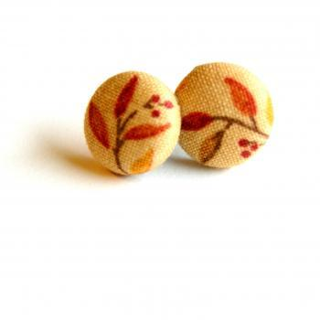 Autumn Fabric Stud Earrings